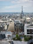 Vue Tour Eiffel et Eglise d ela Trinité depuis terrasse hotel Carlton's Paris